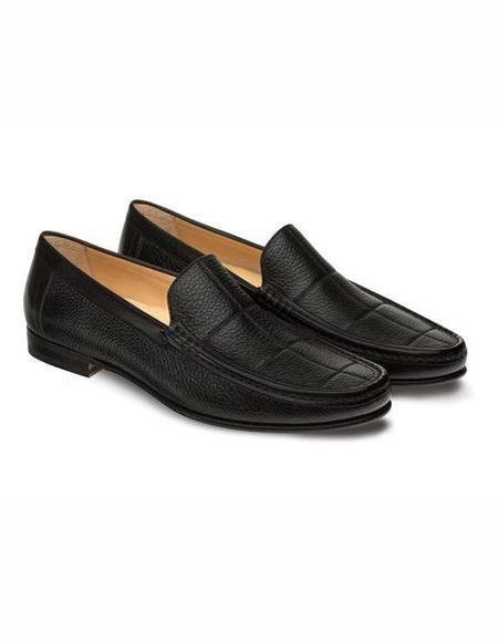 Mens Black Loafer Design Slip On Shoe