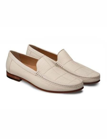 Mens Bone Loafer Design Slip On Shoe