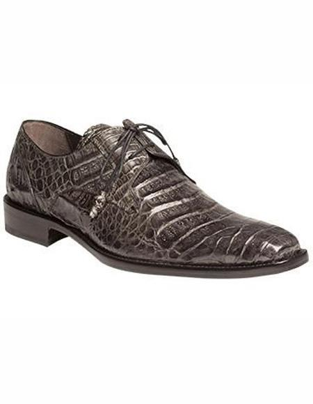 Mens Gray Lace Up Palin Toe Leather Lining Shoe