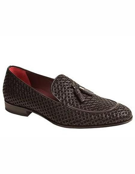 Mens Loafer Design Slip On Black Shoe