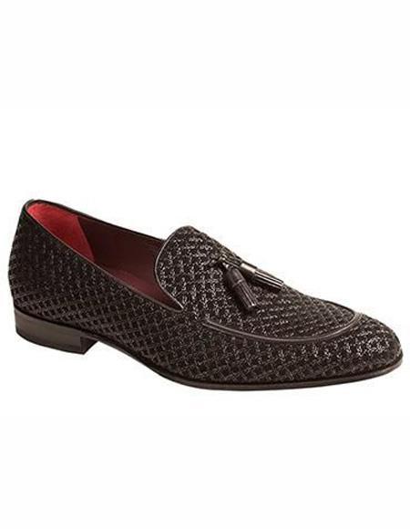 Mens Loafer Design Slip On Black Shoe