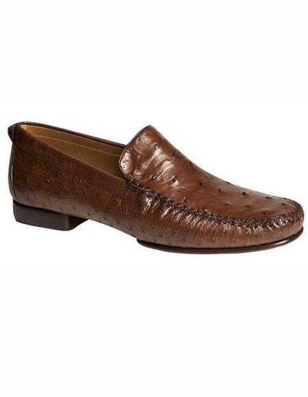 Mens Tobacco Slip On Loafer Design Shoe