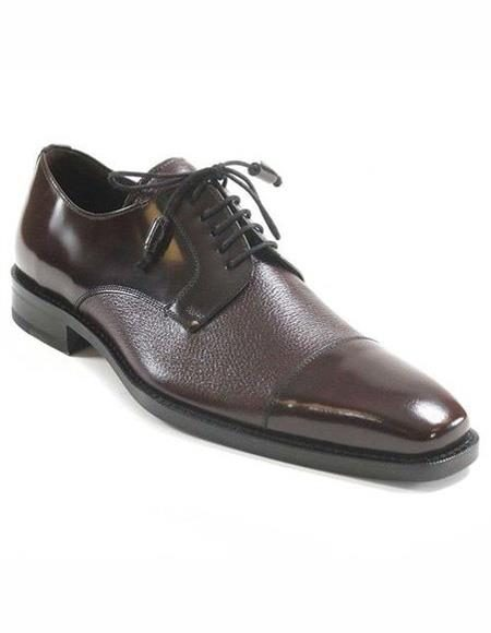Mens Leather Lining Burgundy Cap Toe