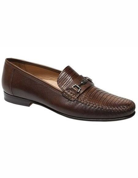 Mens Brown Wingtip Style Shoe Brown