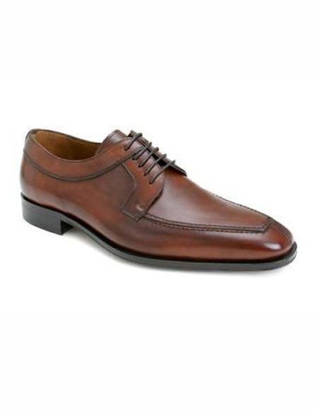 Mens Tan Split Toe Lace Up Shoe