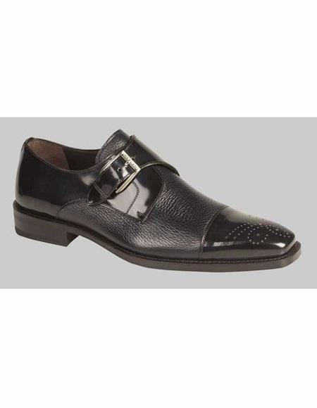 Mens Leather Lining Blue Shoe
