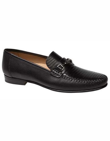 Mens Loafers Design Slip On Shoe Black