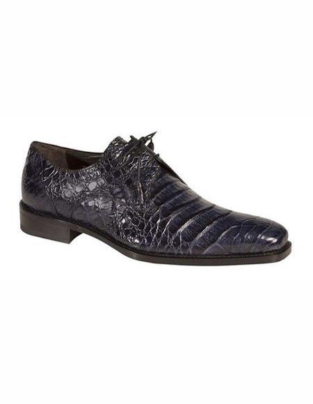 Mens Lace Up Shoe Blue