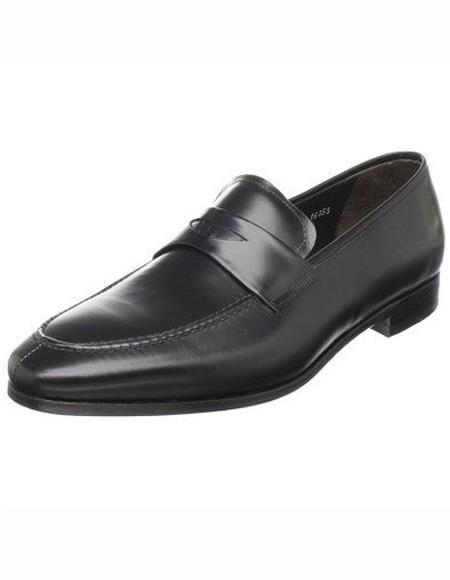 Mens Black Calfskin Leather Shoe