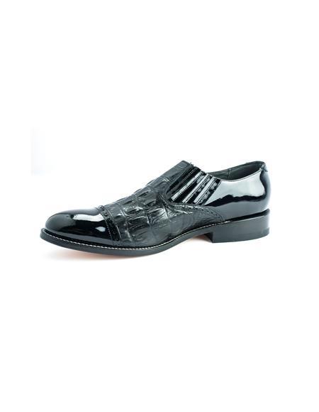 Mens Two Tone Shoes Black