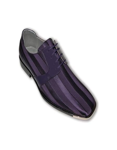 Mens ton on Ton Purple Dress Shoe