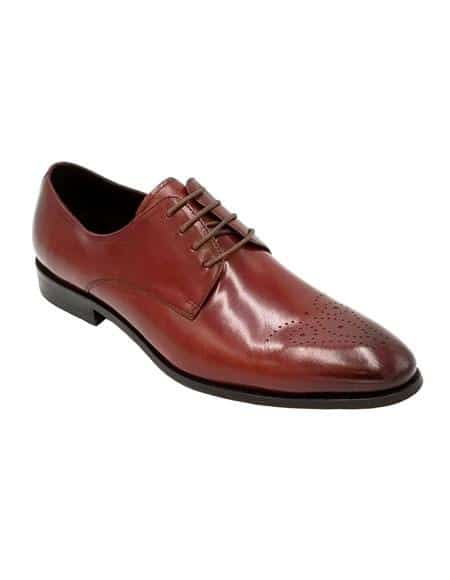 Mens Dress Shoe Burgundy Unique Zota Shoe