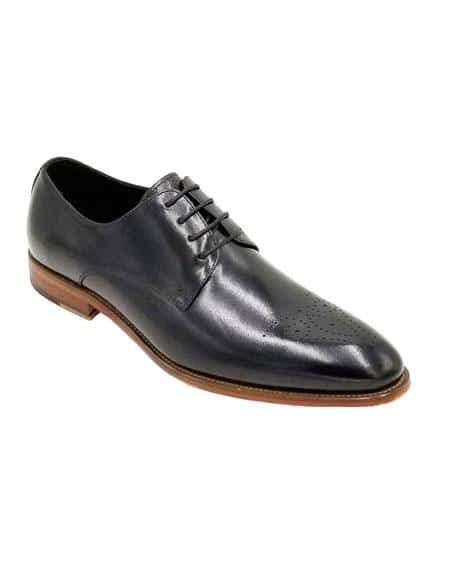 Mens Lace Up Black Unique Zota Mens Dress Shoe
