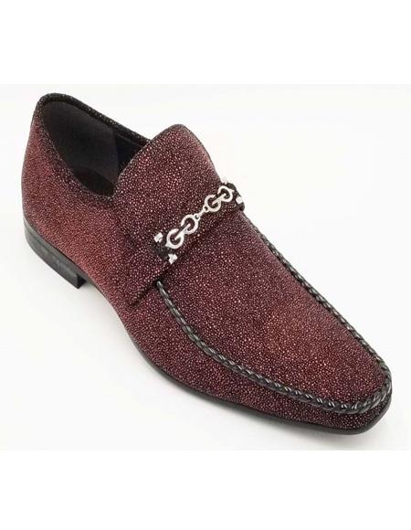 ZOTA Men's Outlet Premium Soft Genuine Leather Showstopper Style Fashion Dress Shoe In Burgundy