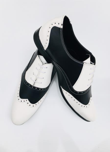 Men's Black Leather Cushioned Insole Shoe