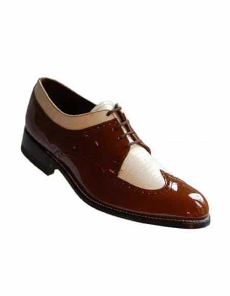 Brown-White Spectator Two Toned Oxford Shoe
