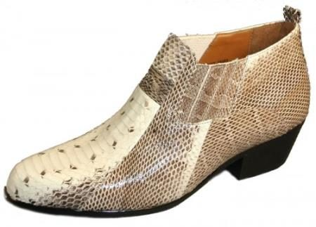 Jarrett Genuine Snakeskin Boots Natural