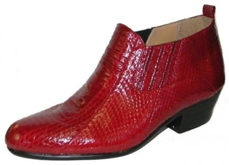 Jarrett Genuine Snakeskin Boots Red