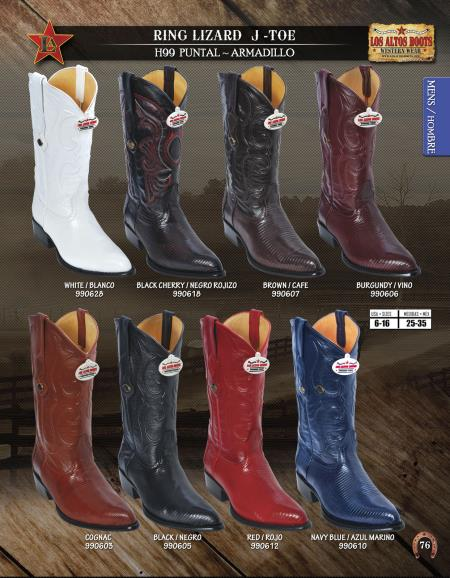 JToe Genuine Ring Lizard Mens Western Cowboy Boots Diff.Colors/Sizes