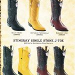 JToe Genuine Stingray Mens Cowboy Western Boots Diff. Colors/Sizes
