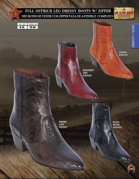 JToe Ostrich Mens Dressy Western Cowboy Boot Diff.Colors/Sizes