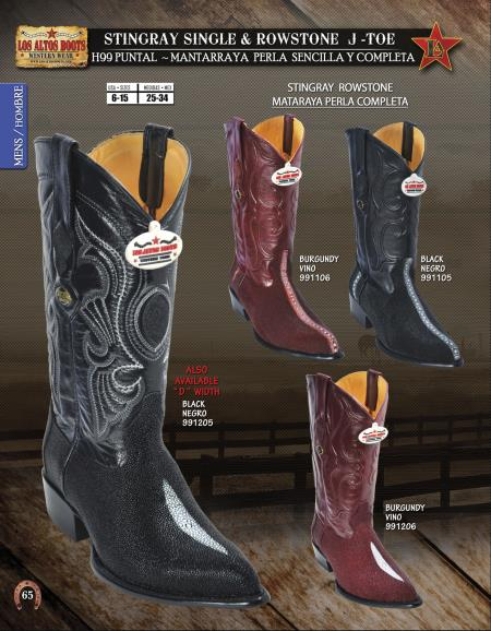 JToe Stingray Rowstone Mens Western Cowboy Boots Diff.Colors/Sizes