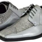 Kada silver mens dress shoes