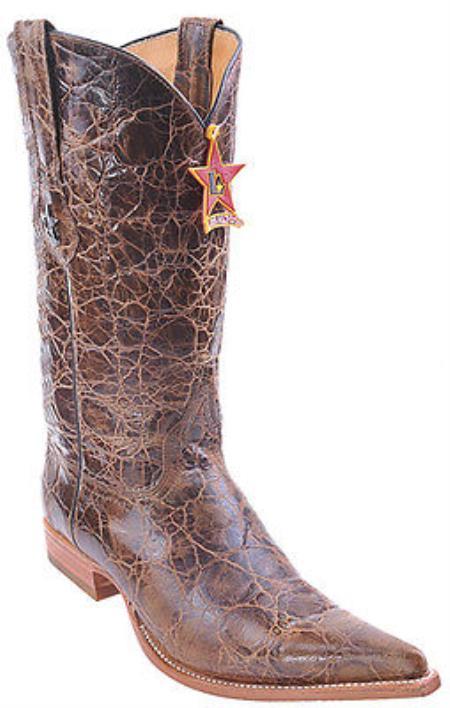 Kenya Cognac Brown Vintage Los Altos Mens Cowboy Boots Western Riding