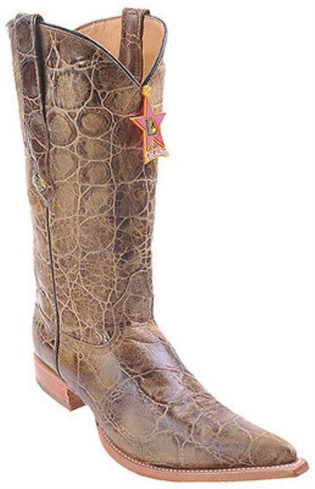 Kenya Honey Brown Riding Los Altos Mens Western Boots Cowboy Classics