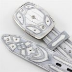 King exotic handmade belt genuine white python