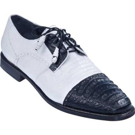 Lizard & Gator Tip Dress Shoe White
