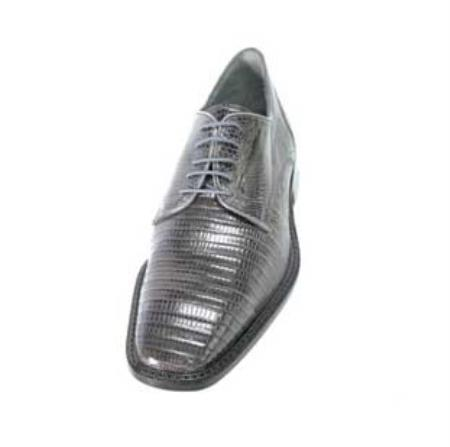 Lizard/Exotic Dress Shoes Leather Sole Cushioned Insoles in Grey/Gray