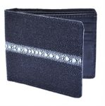 Los Altos Black Genuine Stingray Rowstone Card Holder Wallet