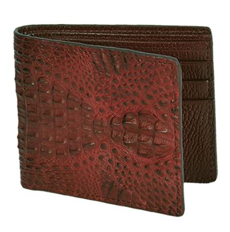 Los Altos Brown / Cafe Genuine Gator Card Holder Wallet