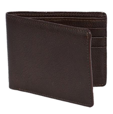 Los Altos Brown Genuine Elk Card Holder Wallet