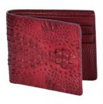 Ostrich Wallet Buttercup ID Holder Bifold Smooth Ostrich Leather