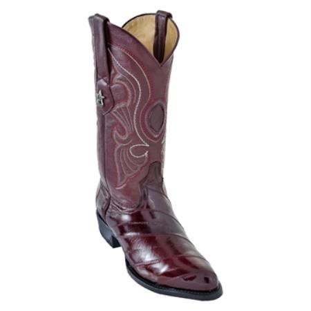 Los Altos Burgundy RToe Genuine Eel