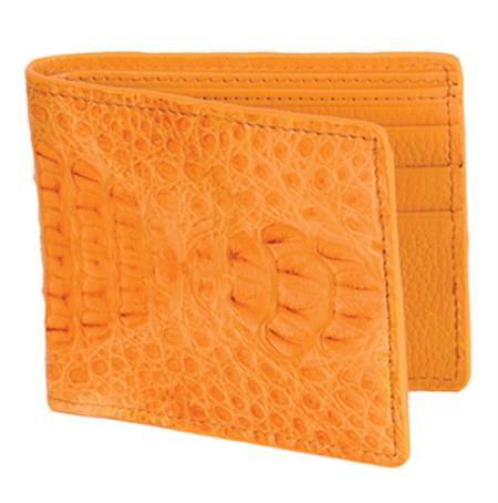 Los Altos Buttercup Genuine Crocodile Card Holder Wallet