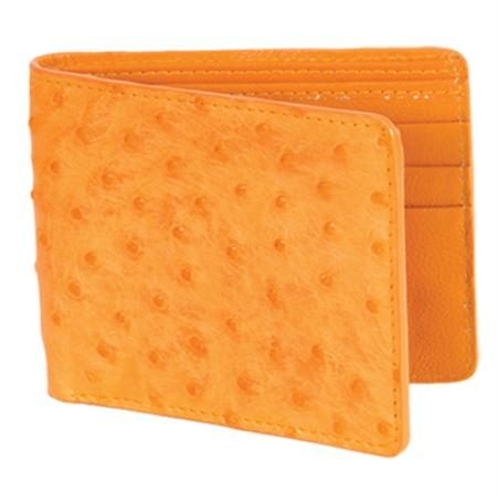 Los Altos Buttercup Genuine Ostrich Card Holder Wallet
