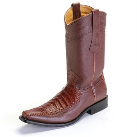Los Altos Cognac Caiman Crocodile