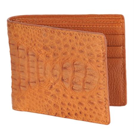 Los Altos Cognac Genuine Crocodile Card Holder Wallet