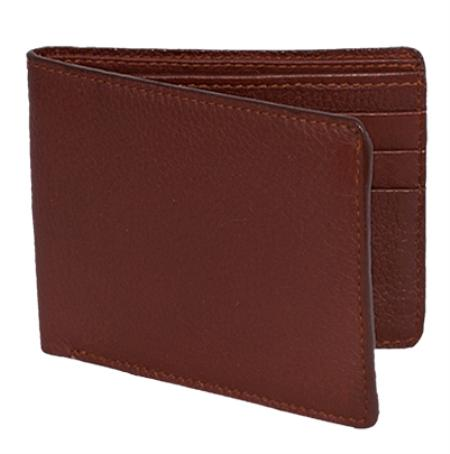 Los Altos Cognac Genuine Elk Card Holder Wallet