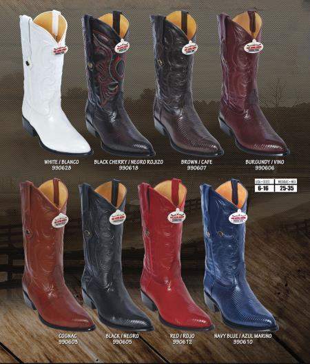 Los Altos JToe Genuine Ring Lizard Mens Western Cowboy Boots Diff. Colors/Sizes 186