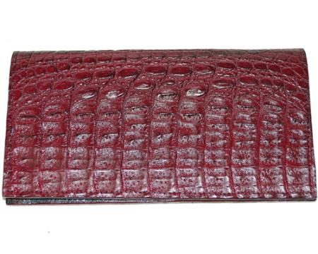 Los Altos Large Hornback Wallet Burgundy