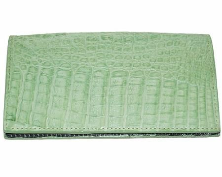 Los Altos Large Hornback Wallet Mint Green