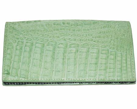 Los Altos Large Hornback Wallet Mint Green