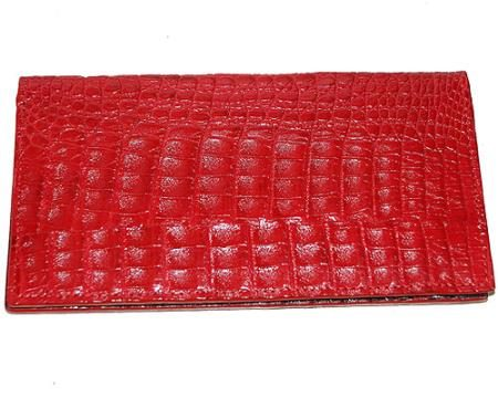 Los Altos Large Hornback Wallet Red