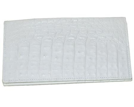 Los Altos Large Hornback Wallet White