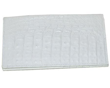 Los Altos Large Hornback Wallet White