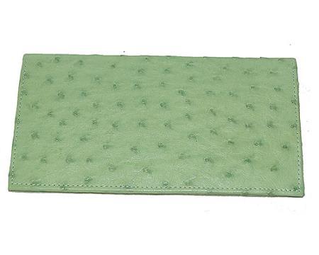 Los Altos Large Ostrich Wallet Mint Green